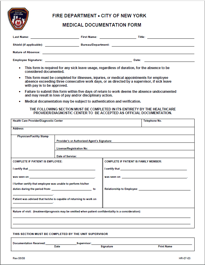 sick leave application for job