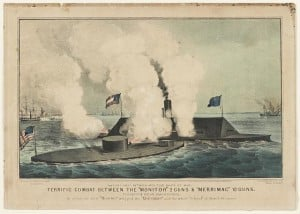 CSS Virginia fights the USS Monitor