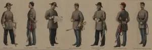 Confederate Civil War Officers Uniforms