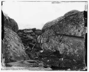 Confederate Sharpshooter at Gettysburg