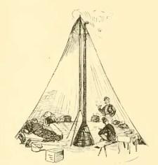 Inside Civil War Sibley Tent