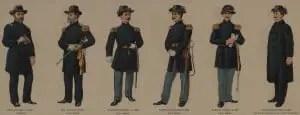 Union Civil War Officers Uniforms
