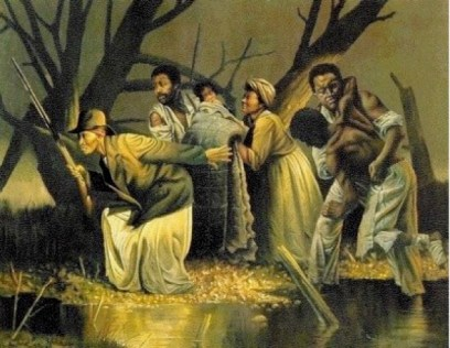 Image result for Wade in the water, wade in the water children painting