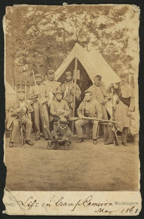 90 day volunteers from Mass. at Camp Cameron Mass, 1861