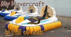 A hovercraft full of eels