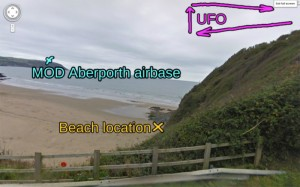"Tresaith Wales, where I saw a ""UFO"""