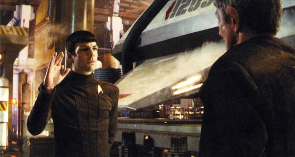 Spock meets Spock in the Star Trek reboot