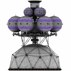Orthographic image of Project Daedalus from www.icarusinterstellar.com