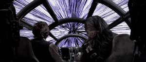 Hyperspace aboard the Millenium Falcon