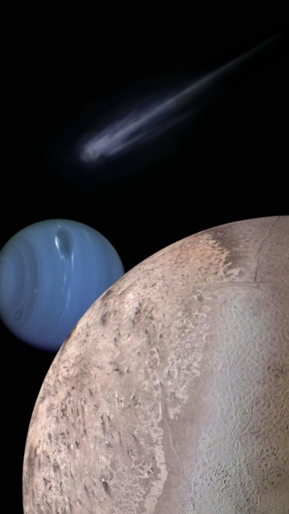 cometkin, Neptune and Triton