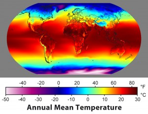 Thermal map of Earth