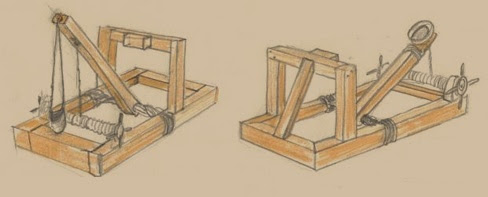 A sketch of siege engines.