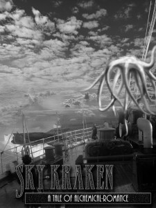 A Sky-Kraken attacks a flying-ship over the coast of England