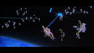 Space battle from Moonraker