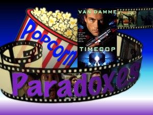 Popcorn paradoxes logo for Timecop