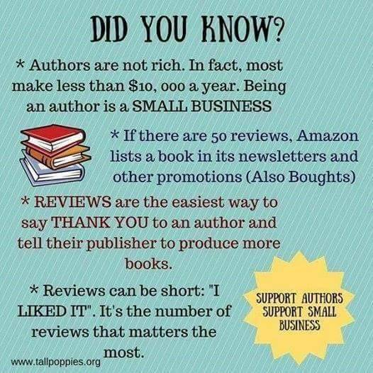 "kate-coleman-writes: ""I didn't realise that even a short review could be so important! Review, review! "" Yep reviews are important, but Amazon is making it harder for you to review books, unless you review lots of other stuff and have made lots of..."