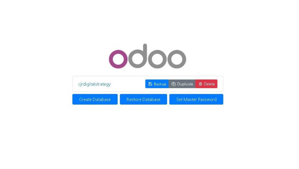 Backing Up Odoo Database