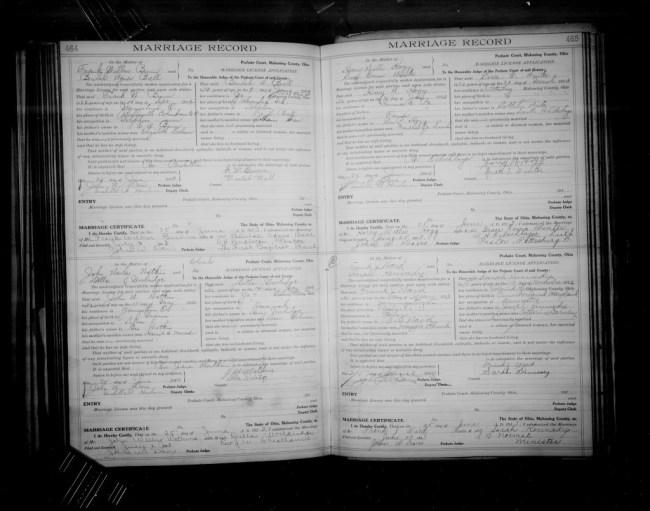 Kennedy Ward Marriage 1913