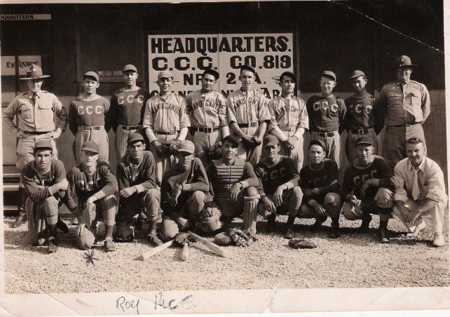 Roy Pace CCC Baseball1930s