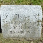 Found: Sarah Kennedy Ward Flanagan's Burial Place