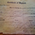 Baptism Record And Church For Michael John Flanagan (1927)