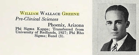 Willieam Wallace Greene 1929 Stanford