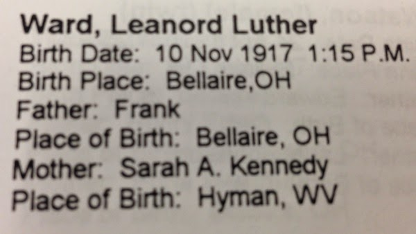#52Ancestors: My Grand Uncle Leonard Luther Ward