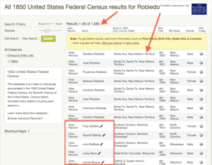 Robledo - 1850 US Census - Ancestry