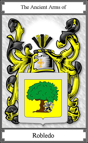 Robledo Coat Of Arms   House Of Names