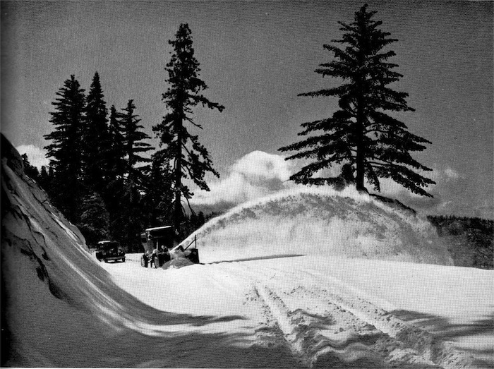Snow Plow, Yosemite, 1930s or 1940s
