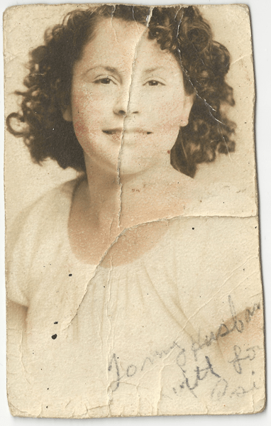 Rosie Salas, Newly Married, Early 1940s
