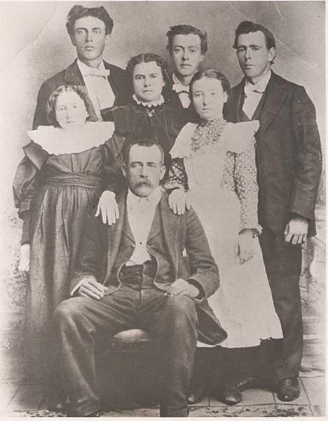 Andrew Jackson Pace Family Portrait 1898