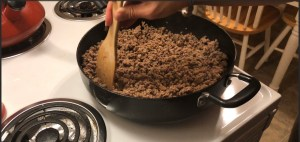 Cooked Ground Beef and Italian Sausage