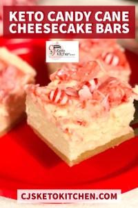 Keto Candy Cane Cheesecake