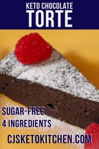 Keto Flourless Chocolate Cake (Torte)