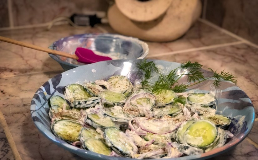 Low Carb Creamy Dill Cucumber Salad