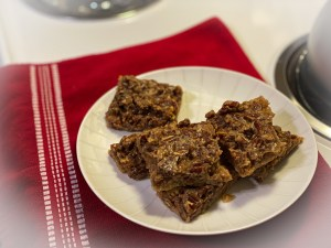 Deliciously rich Keto Maple Pecan Bars