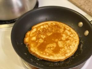 Keto Low Carb Pancakes in Skillet