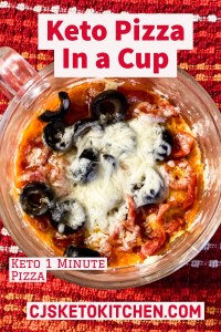 Keto Pizza In a Cup