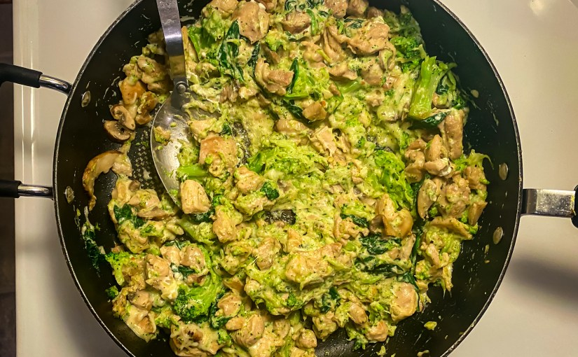 Keto One Pan Garlic Chicken