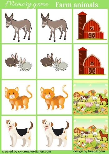 Farm Animals Memory Game Free Printable Creative Kitchen