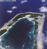 Rakahanga aerial view