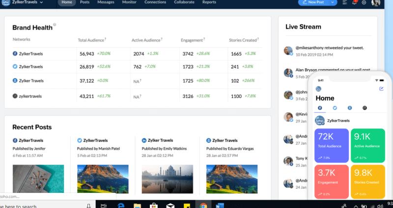 social media marketing tools - zoho social