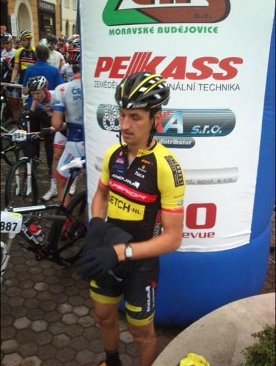 ... mezi horké kandidáty na tento dres tu byl i Jirka Ňumi Novák, který svou formu časoval právě na tento závod ...