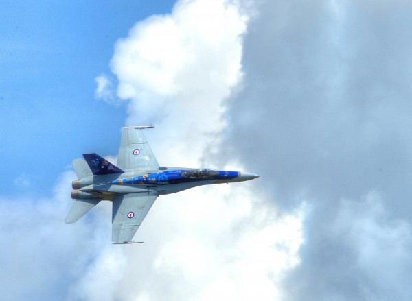 RCAF CF-18 flying the 2014 Demonstration colours