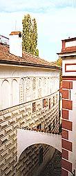 Latrán no. 53, facade with Alchemis symbols on Klášterní Street, foto: Pavel Slavko