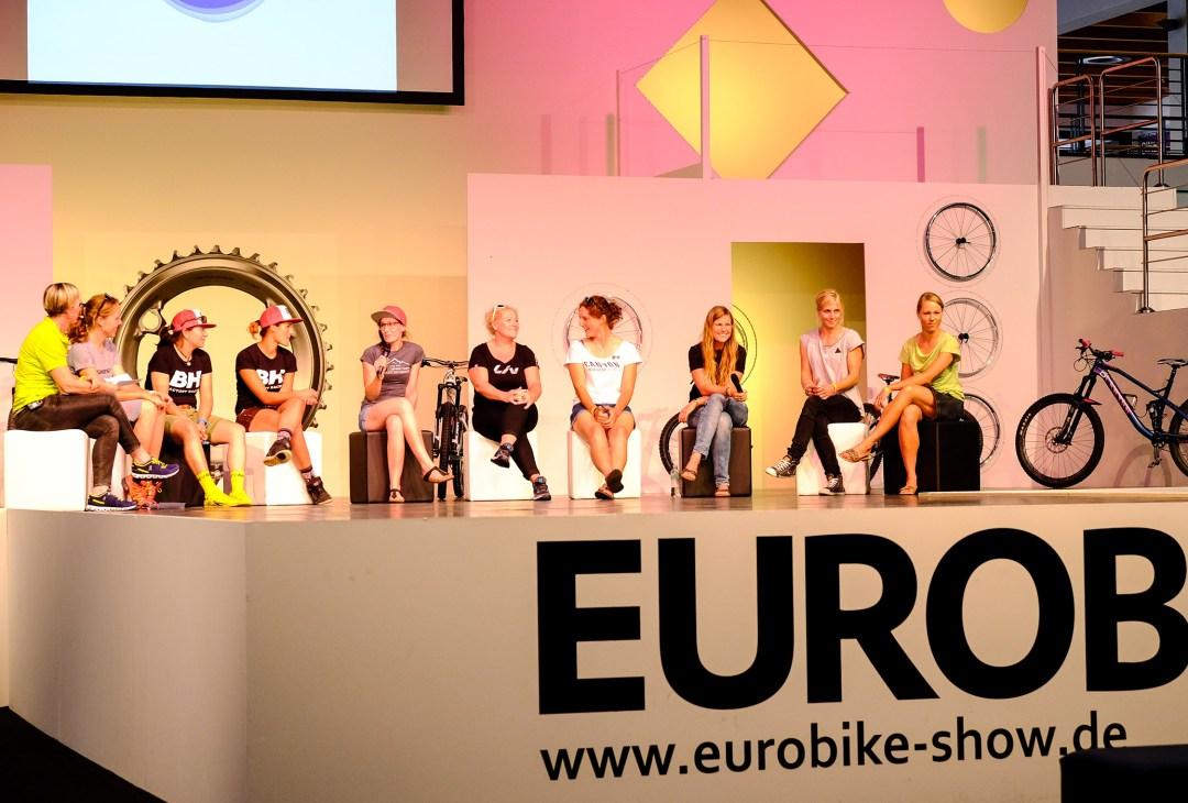 Starke Frauen auf großer Bühne: Deutschlands MTB Stars durfte ich präsentieren.