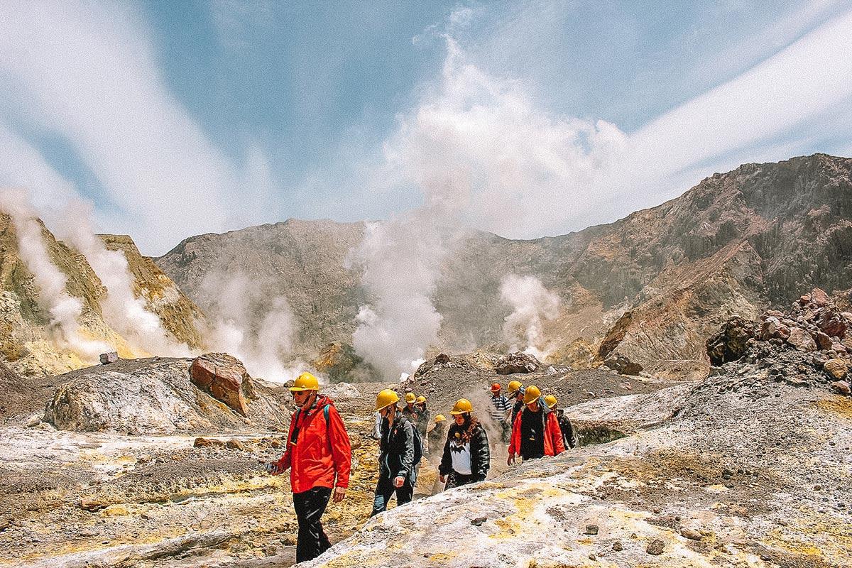 Exploring White Island Volcano in New Zealand - CK Travels