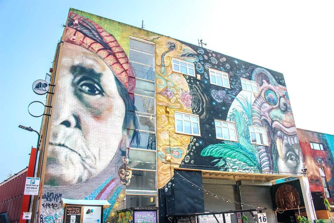Hackney Wick street art mural, East London