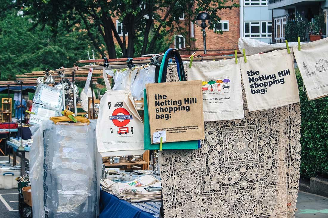 Portobello Road Market, Notting Hill, West London